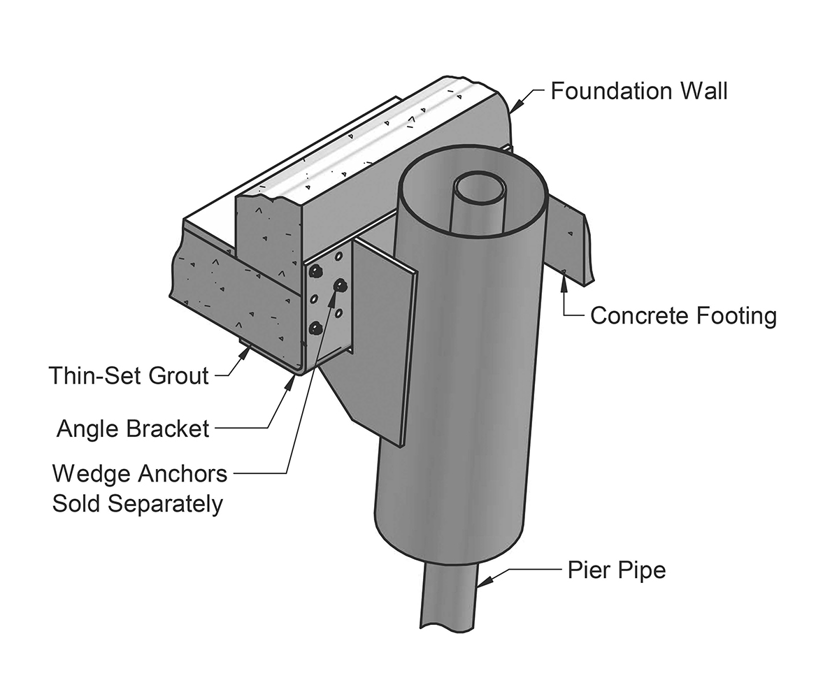 Magnum Piering MP1029 Grout-Guide Micropile Bracket