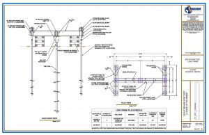 100 Ton Load Test Frame Drawing