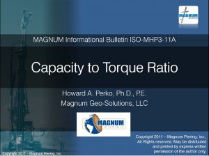 Capacity to Torque Ratio