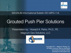 Grouted Push Pier Solutions
