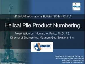 Helical Pile Product Numbers